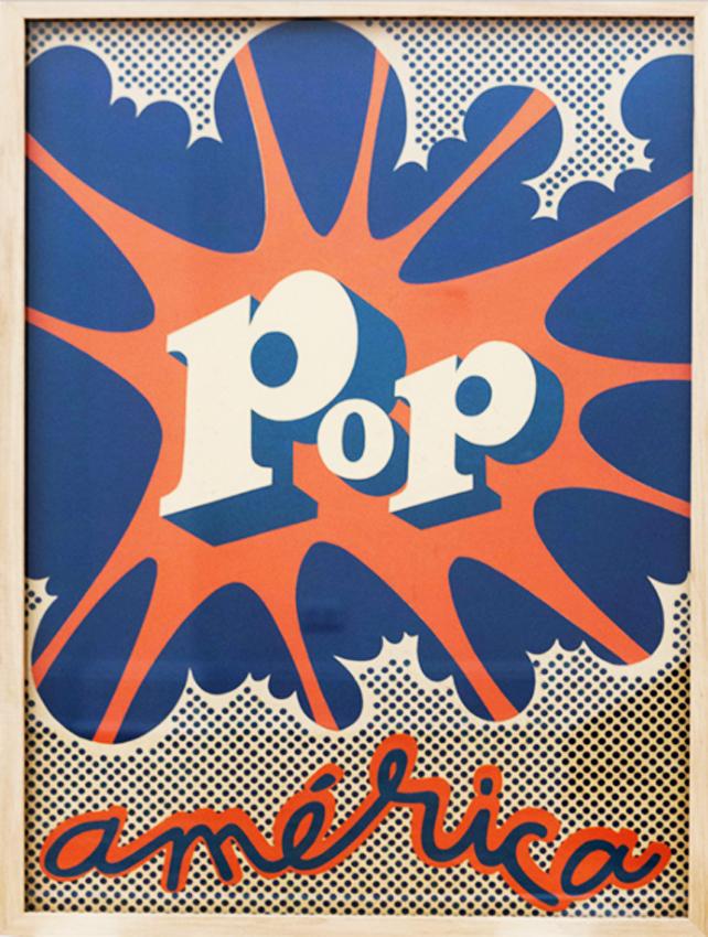 Pop-art style image that says Pop América