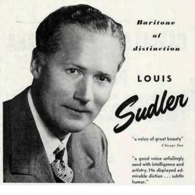 "Concert poster: ""Louis Sudler, Baritone of Distinction"""