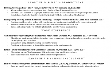 Internship and Job Search Hub for Creative Industries | Duke ...
